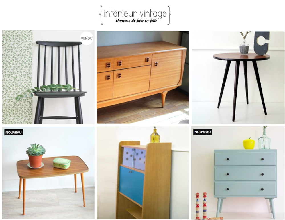 o trouver des meubles vintage sur le web le blog d. Black Bedroom Furniture Sets. Home Design Ideas