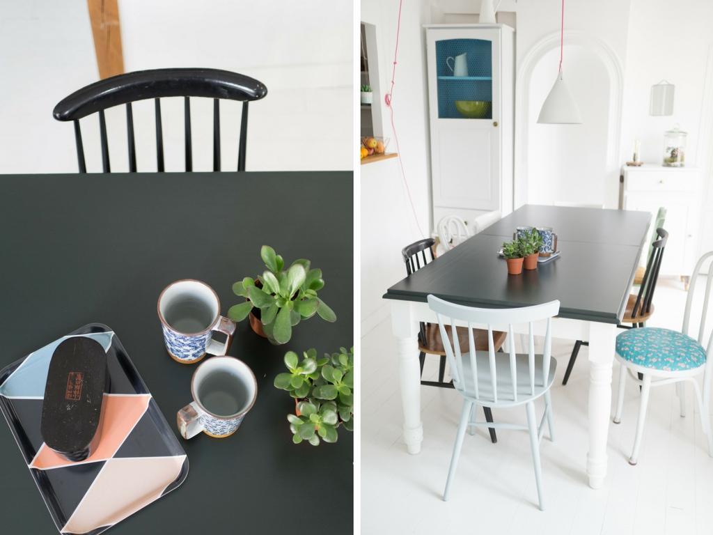 Eclaircir Un Meuble En Chene Fonce le petit relooking de notre table de cuisine | le blog d